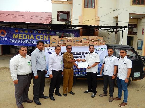 PT Asuransi Bangun Askrida Serahkan Bantuan untuk Korban Gempa