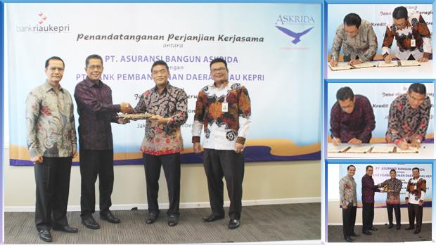 Perjanjian Kerjasama PT Asuransi Bangun Askrida dengan  PT Bank Pembangunan Daerah Riau Kepri