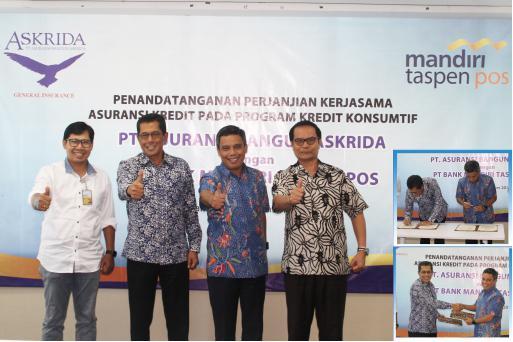 Perjanjian Kerjasama PT Asuransi Bangun Askrida dengan Bank Mandiri Taspen Pos